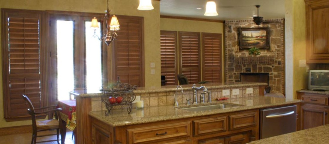 Should you choose stained plantation shutters latreia for Should plantation shutters match trim